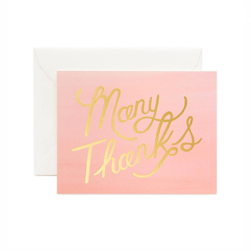 [Rifle Paper Co.] Ombre Many Thanks Card