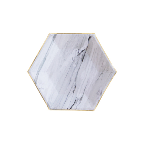 [Harlow&Grey] Bliss Marble Plates(8pcs)
