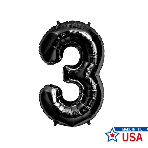 [Northstar balloons] Giant number balloons_Black(0~9)