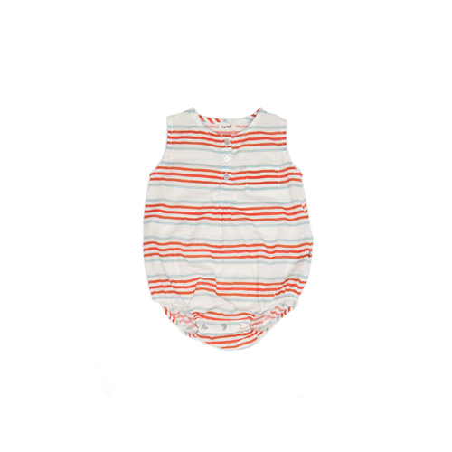 [oeuf 17ss] Romper_button_multi stripes