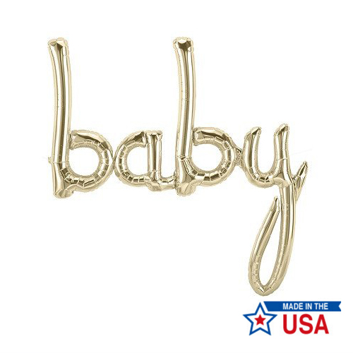 [Northstar balloons] Script balloons_Baby(white gold)