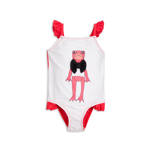 [mini rodini 17ss] frog sp wing swimsuit_cerise