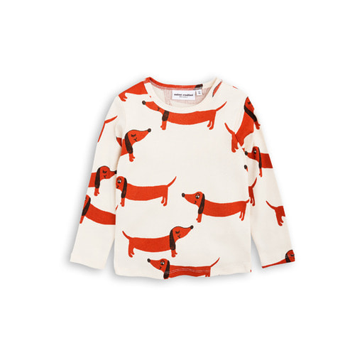 [mini rodini 17fw] Dog Long Sleeve T-shirt_off white