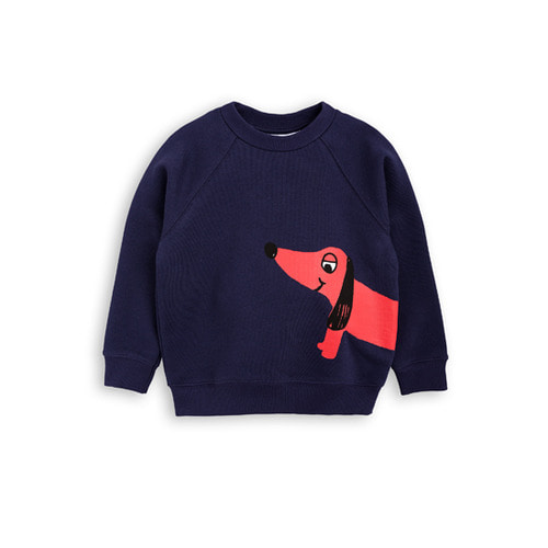 [mini rodini 17fw] Dog Sweatshirt_navy