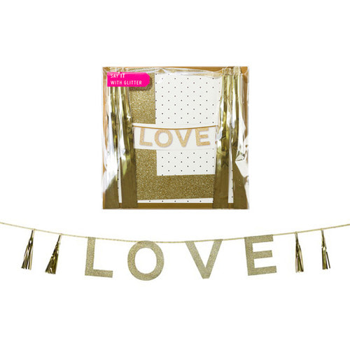 [Talking Tables] LOVE tassel garlands_gold