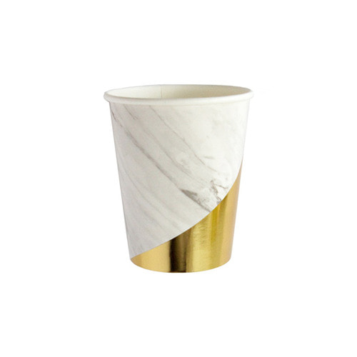 [Harlow&Grey] White marble Cups(8pcs)