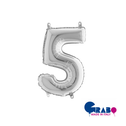 "[Grabo balloons] Number balloons(0~9)_silver 14"" / 36cm"
