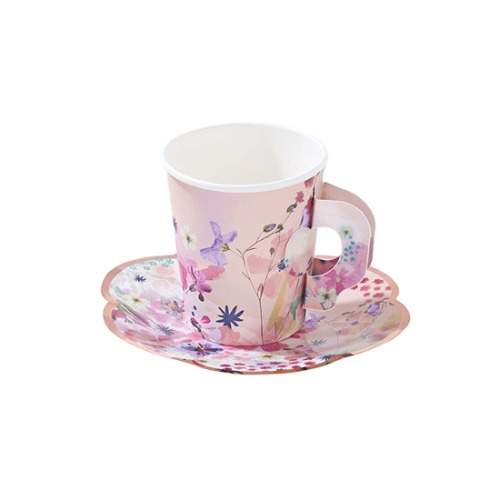 [Talking Tables] Blossom Party Cup and Saucer Set(12set)