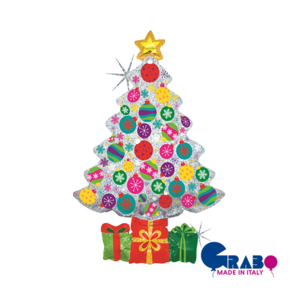 [Grabo balloons] Sparkling Ornament Tree 39""