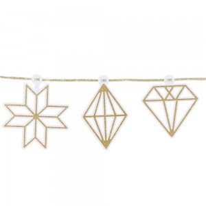 [Talking Tables] Gold Diamond Glitter Garland(3m)
