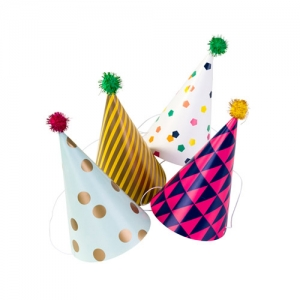 [Talking table] Color Flake Party Hats(4pcs)