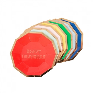 [MeriMeri]Happy Birthday Small Plate(8pcs)