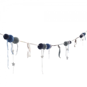 [Numero74]Pompom Garland_Blue mix