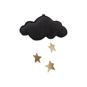 [Baby Jives] Cloud Mobile_mini(black+gold)