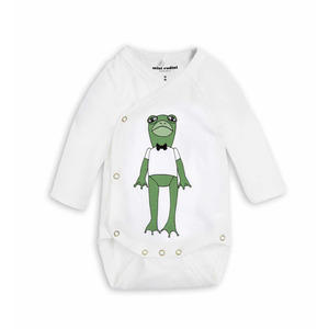 [mini rodini 17ss] Frog SP wrap body_Green