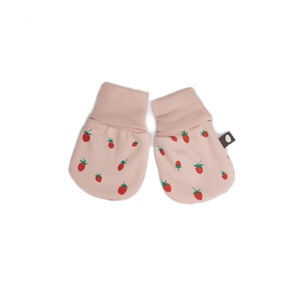 [oeuf layette 17ss] mittens_strawberries(손싸개)