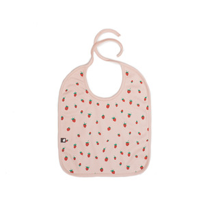 [oeuf layette 17ss] large bib_strawberries