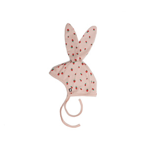 [oeuf layette 17ss] bunny hat_strawberries