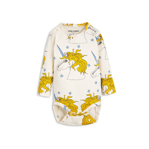 [mini rodini 17ss] unicorn ls body_off white