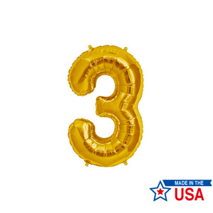 [Northstar balloons] Number balloons_m/Gold(0~9)
