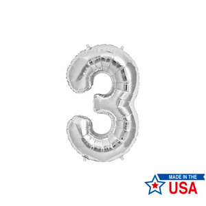 [Northstar balloons] Number balloons_m/Silver(0~9)