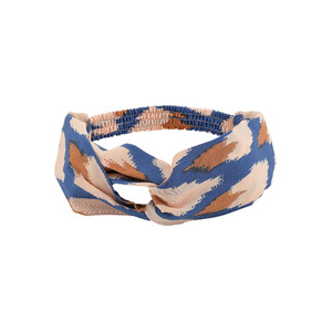 [soft gallery 17ss] Wrap Hairband_Ikat Blue