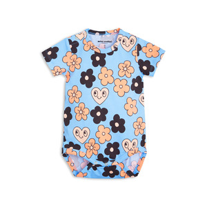[mini rodini 17ss] flowers ss body_light blue