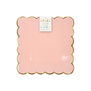 [MeriMeri]Pastel Party Plates (8pcs/4colors)