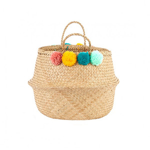 [olli ella] Pompom Belly Basket_Multi