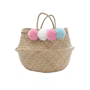 [olli ella] Pompom Belly Basket_Pink