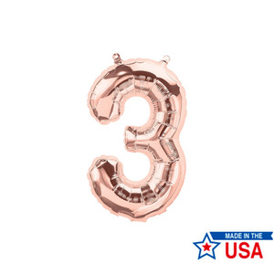 [Northstar balloons] Number balloons_m/Rose gold(0~9)