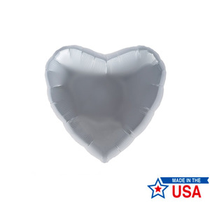"[Northstar balloons] Heart_silver 18""(40x42cm)"