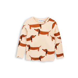 [mini rodini 17ss] Dog Long Sleeve T-shirt_beige