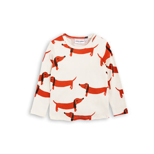 [mini rodini 17ss] Dog Long Sleeve T-shirt_off white