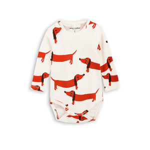 [mini rodini 17ss] Dog Long Sleeve Body_off white