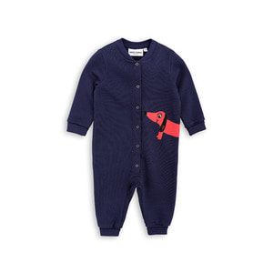 [mini rodini 17fw] Dog Onesie_navy
