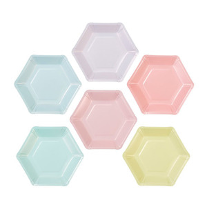 [Talking Table] We Heart Pastel Plates_6colors (12pcs)