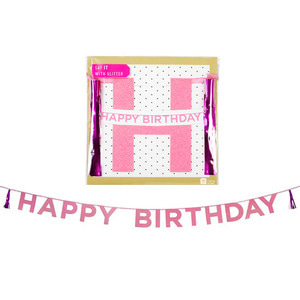 [Talking Table] HBD tassel garlands_pink