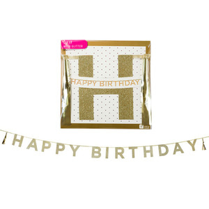 [Talking Table] HBD tassel garlands_gold