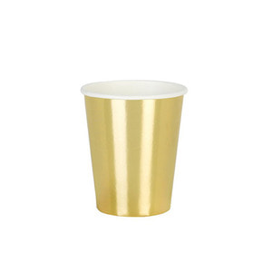 [Talking Table] Metallic Cups_gold (8pcs)