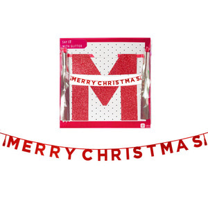 [Talking Table] MERRY CHRISTMAS tassel garlands_red