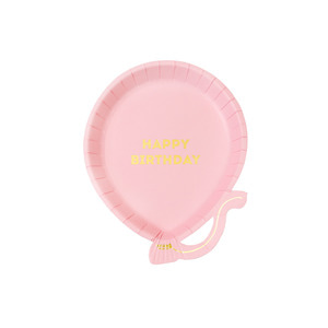 [Talking Tables] We♥Birthday Plates_Pink (12pcs)
