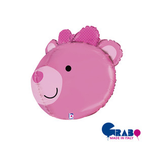 "[Grabo balloon] 3D Bear Balloon_pink 27"" / 69cm"
