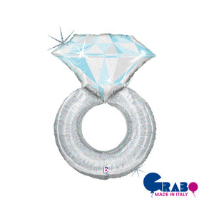 [Grabo balloons] Wedding ring_silver hologram