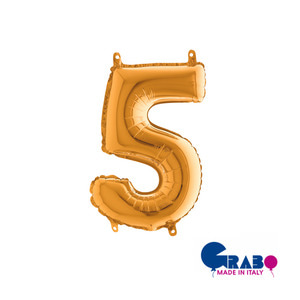 "[Grabo balloons] Number balloons(0~9)_gold 14"" / 36cm"