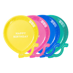 [Talking Tables] Bright Balloon Plates(12pcs)