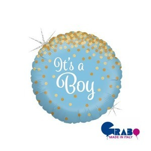 "[Grabo balloons] It's a Boy 18""(35x35cm)"