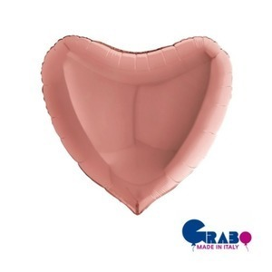 "[Grabo balloons] Heart_rose gold 36""(70x75cm)"