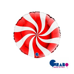 "[Grabo balloons] Swirly Red 18""(35cm)"