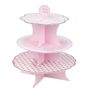 [Talking table] Pink N Mix Cake Stand